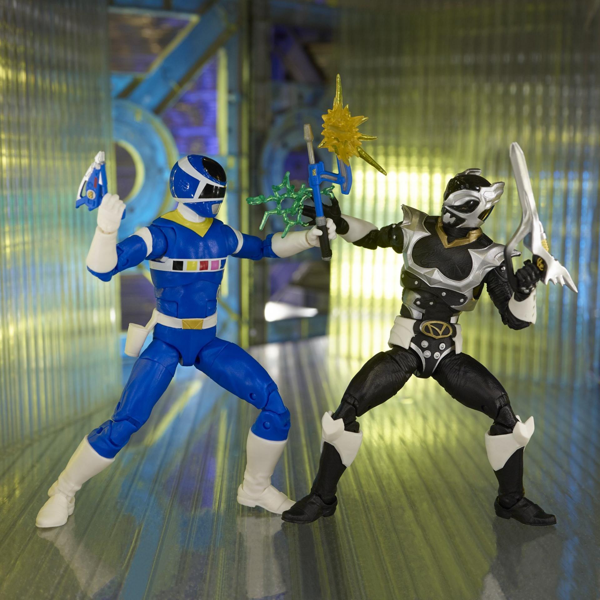 Power rangers lightning collection blue ranger vs silver psycho ranger 15cm3