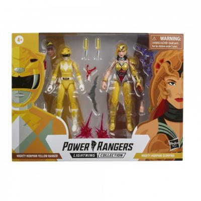 Power rangers lightning collection mighty morphin yellow ranger vs scorpina 15cm