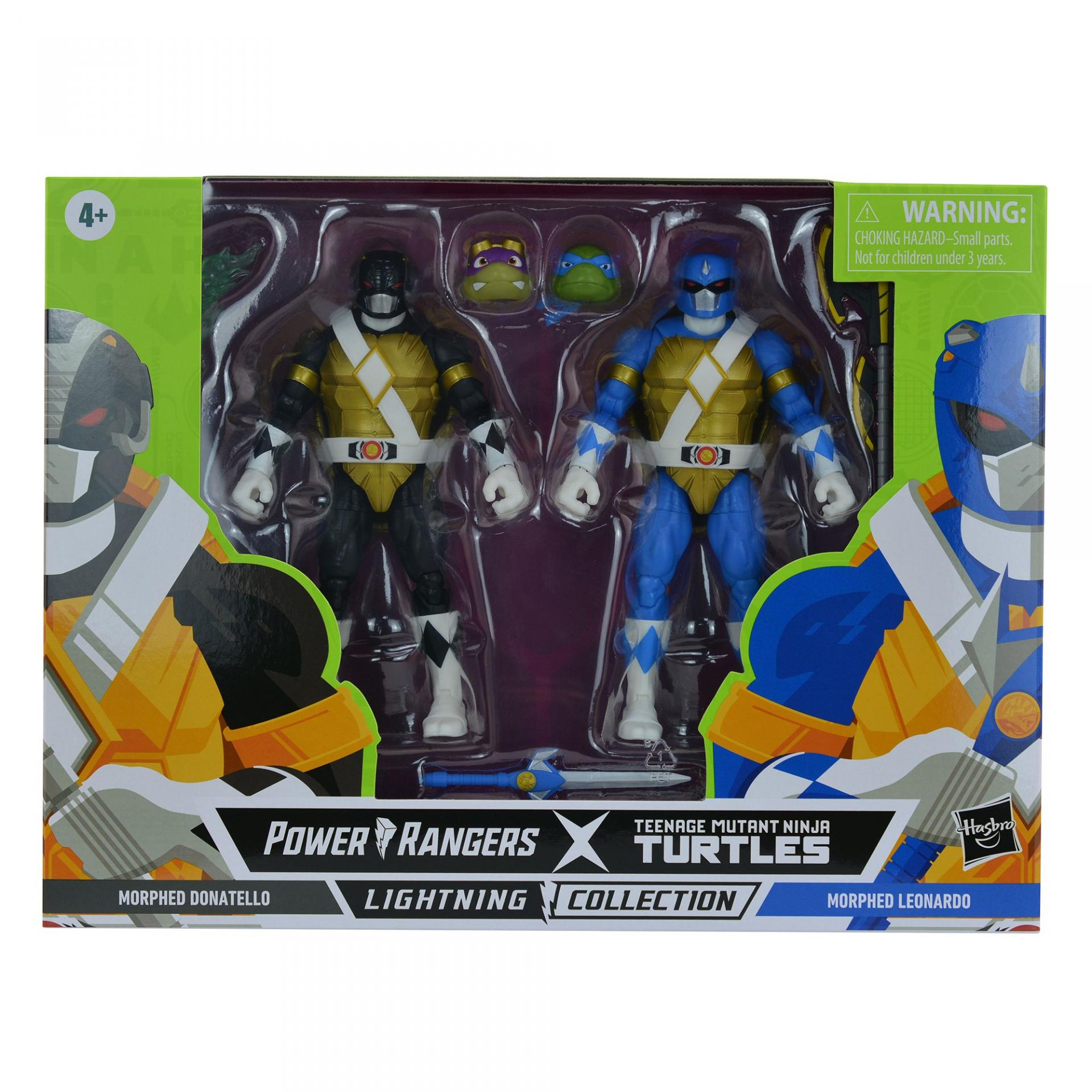 Power rangers tortue ninja tmnt lightning collection morphed donatello morphed leonardo 15cm