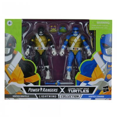 Power Rangers Tortue Ninja (TMNT) - Lightning Collection - Morphed Donatello & Morphed Leonardo 15cm