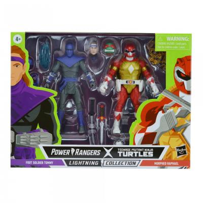 Power Rangers Tortue Ninja (TMNT) - Lightning Collection - Morphed Raphael & Foot Soldier Tommy 15cm