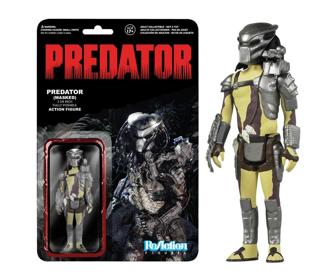Predator funko reaction series masked predator 9cm kenner retro