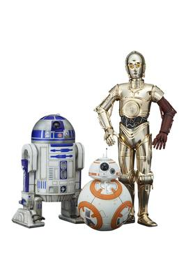 Star Wars ARTFX+ Serie Episode VII C-3PO & R2-D2 with BB-8 18cm pvc statue