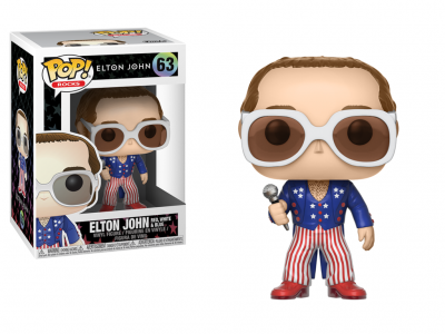 ROCK - Funko POP! Rocks - Elton John Red, White, Blue Vinyl Figure 10cm