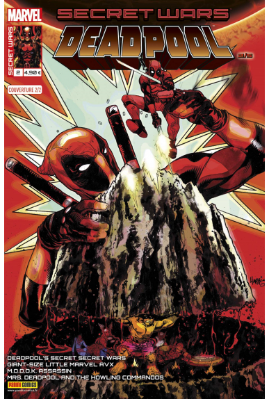 Secret wars 2 deadpool couverture 2 kiosque panini comics france marvel jpg