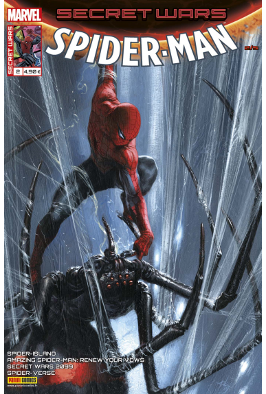 Secret wars 2 spiderman kiosque panini comics france marvel jpg