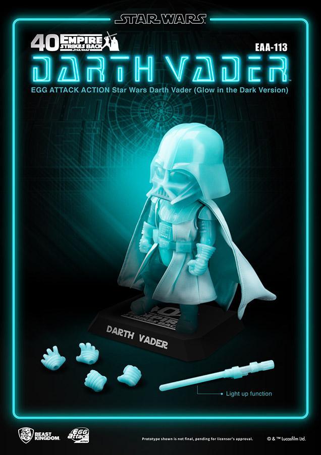 Star wars egg attack darth vader glow i t dark version