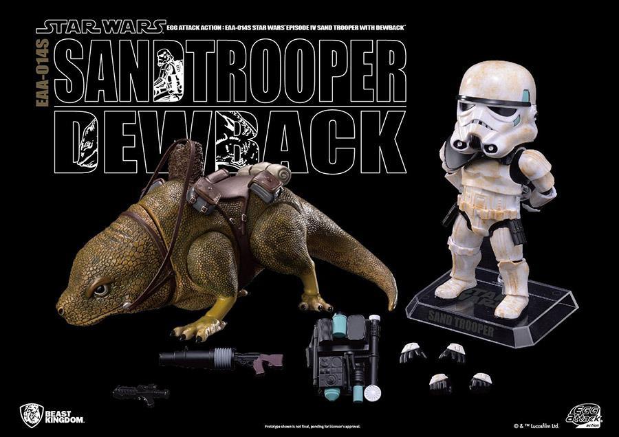 Star wars egg attack dewback imperial sandtrooper