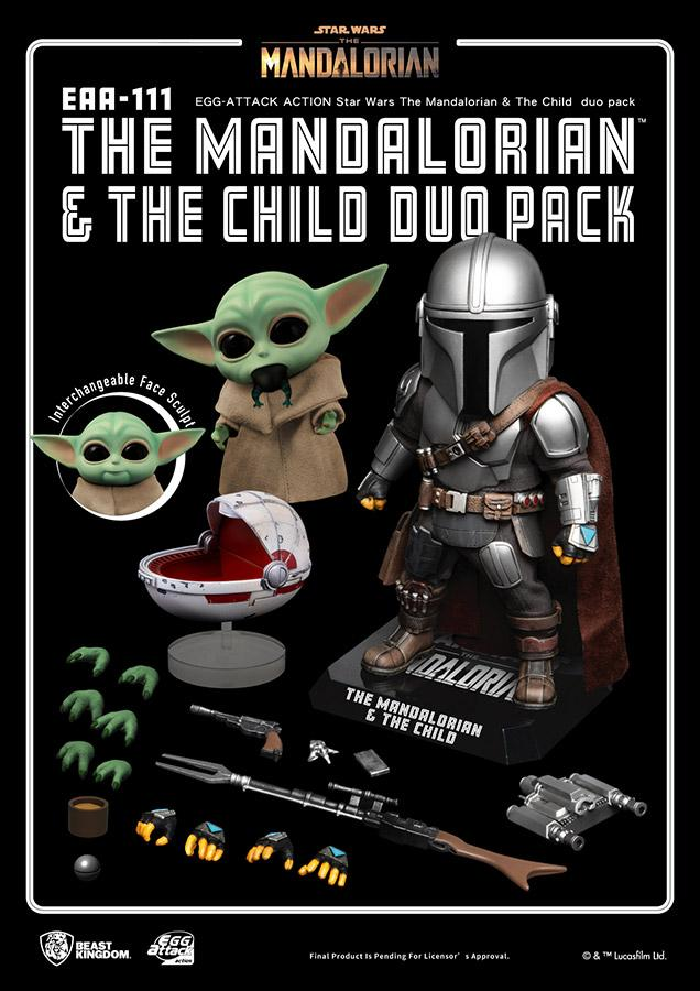 Star wars egg attack mandalorian the child duo pack