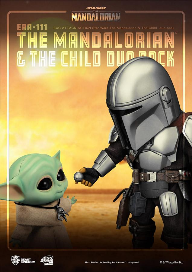 Star wars egg attack mandalorian the child duo pack6