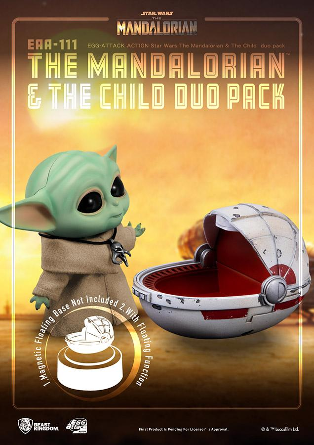Star wars egg attack mandalorian the child duo pack7
