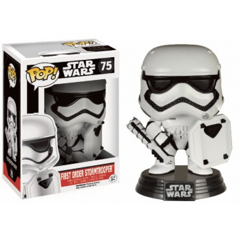 Star wars episode vii the force awakens funko pop first order stormtrooper with shield vinyl figure 10cm limited