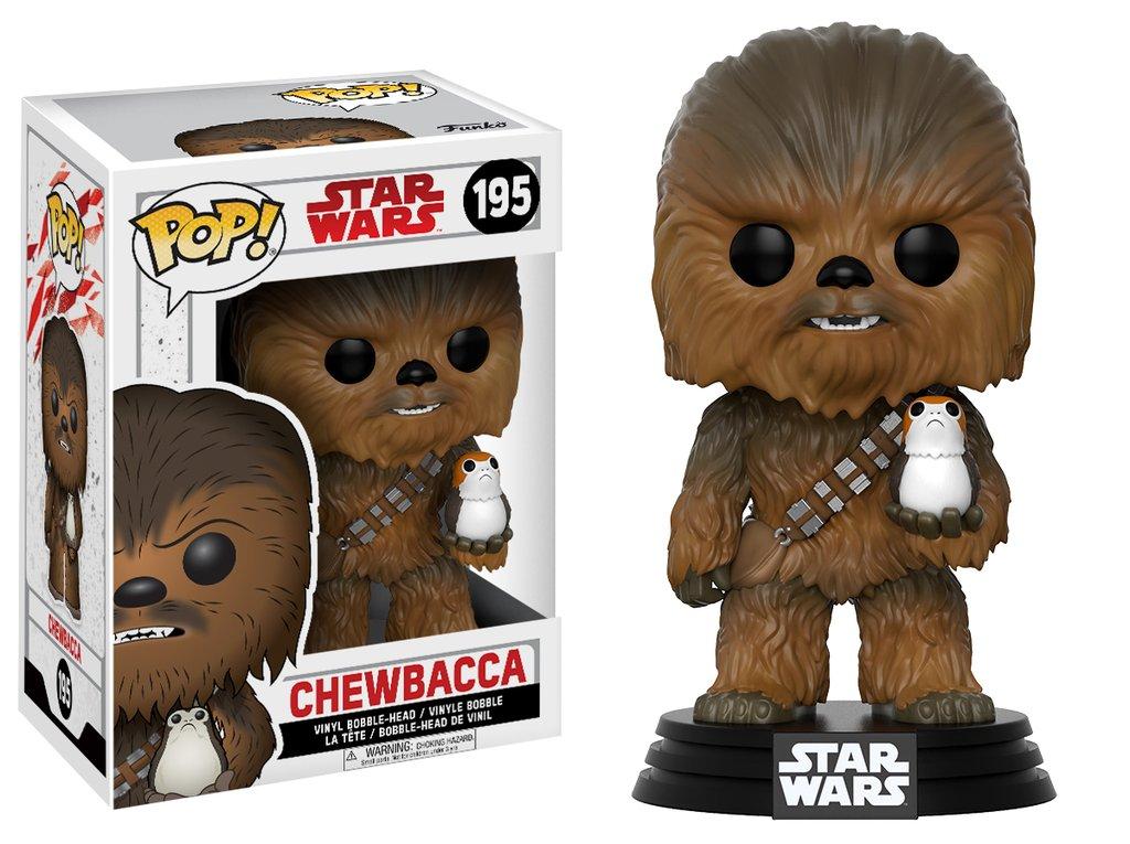 Star wars episode viii the last jedi funko pop chewbacca with porg vinyl figurine 10cm