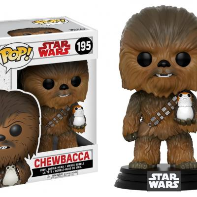 STAR WARS Episode VIII The Last Jedi FUNKO POP - Chewbacca with Porg Vinyl Figurine 10cm