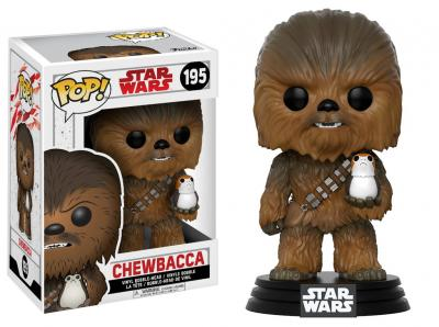 STAR WARS Episode VIII The Last Jedi FUNKO POP - Chewbacca with Porg Vinyl Figure 10cm