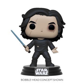 Star wars funko pop ben solo blue saber 10cm