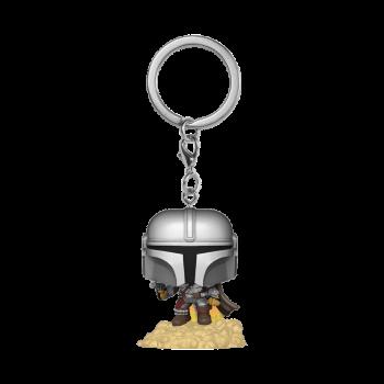 Star wars funko pop keychain the mandalorian floating