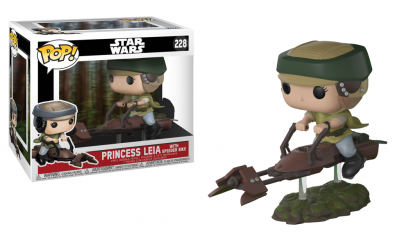 STAR WARS - FUNKO POP - Leia On Speeder Bike Deluxe Vinyl Figure 10cm