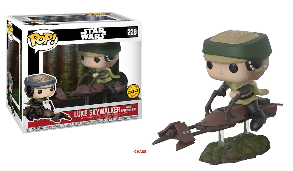 Star wars funko pop luke on speeder bike deluxe vinyl figure 10cm chase