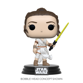 Star wars funko pop rey w yellow saber 10cm