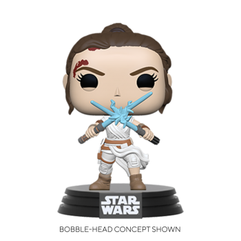 Star wars funko pop rey w2 light sabers 10cm