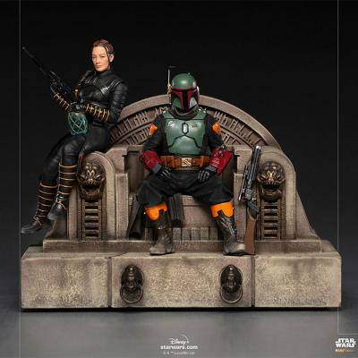 Star Wars - IRON STUDIOS - The Mandalorian - Boba Fett and Fennec Shand on Throne Deluxe