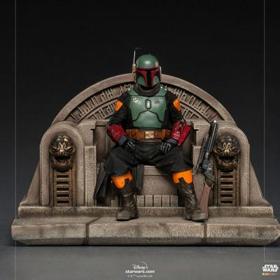 Star Wars - IRON STUDIOS - The Mandalorian - Boba Fett on Throne Deluxe