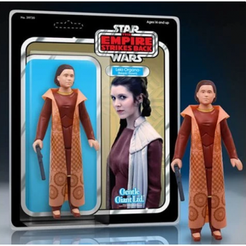 Star wars kenner inspired diamond select toys leia organa bespin gownjumbo action figure