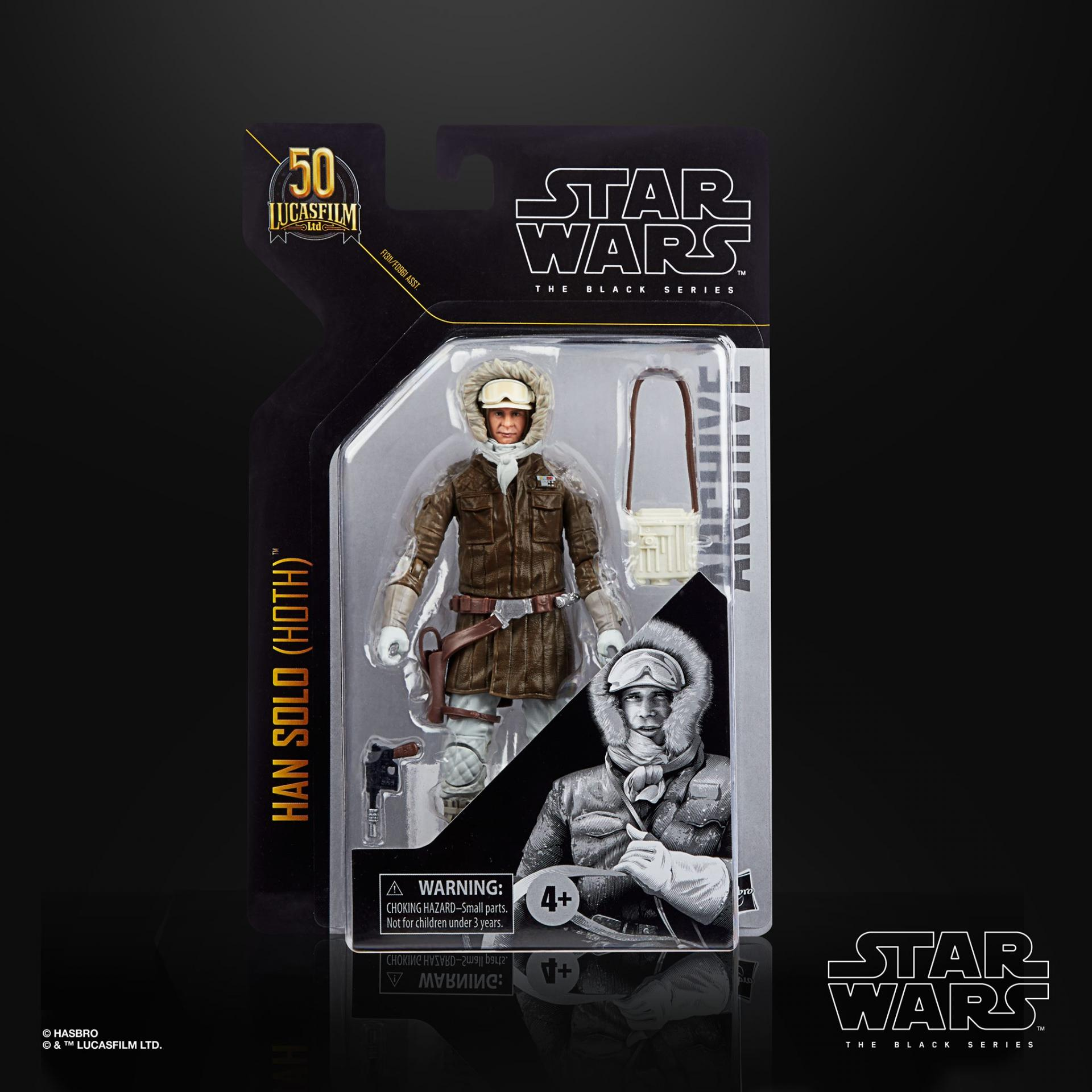 Star wars the black series archive han solo hoth 15cm