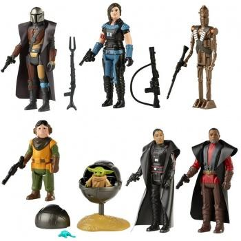 Star wars the retro collection the mandalorian pack 7 figurines