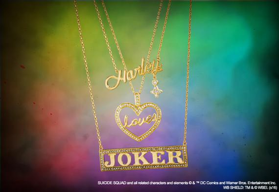 Suicide squad harley loves joker bijoux lot de 3 pendentifs dc comics