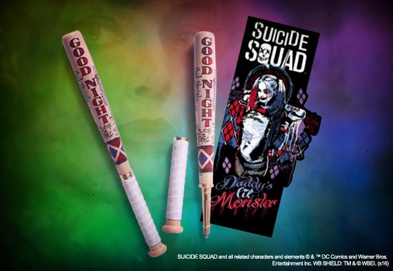 Suicide squad stylo batte de baseball et marque pages dc comics