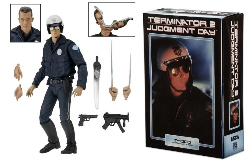 Terminator 2 7 scale action figure ultimate t 1000 motorcycle cop