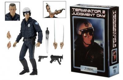 Terminator 2 - NECA - T-1000 Motorcycle Cop Ultimate Action Figure 18cm