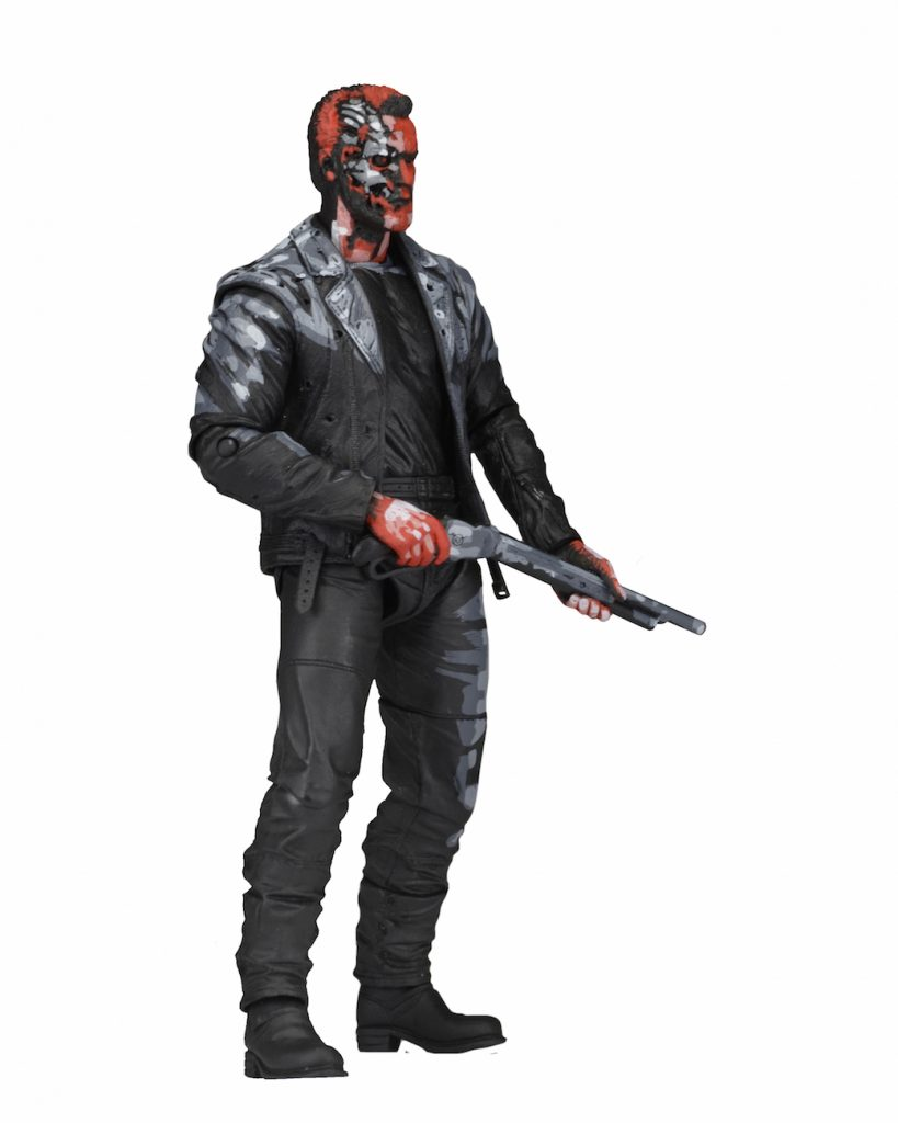 Terminator 2 neca judgment day t 800 video game appearance action figure 18cm1
