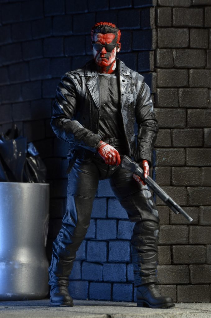 Terminator 2 neca judgment day t 800 video game appearance action figure 18cm3