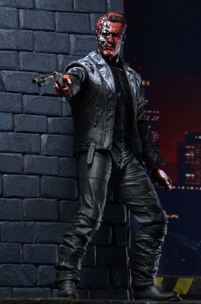 Terminator 2 neca judgment day t 800 video game appearance action figure 18cm4