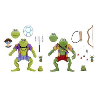 Tortue Ninja (TMNT) Cartoon - NECA - Genghis & Rasputin Frog 2 pack