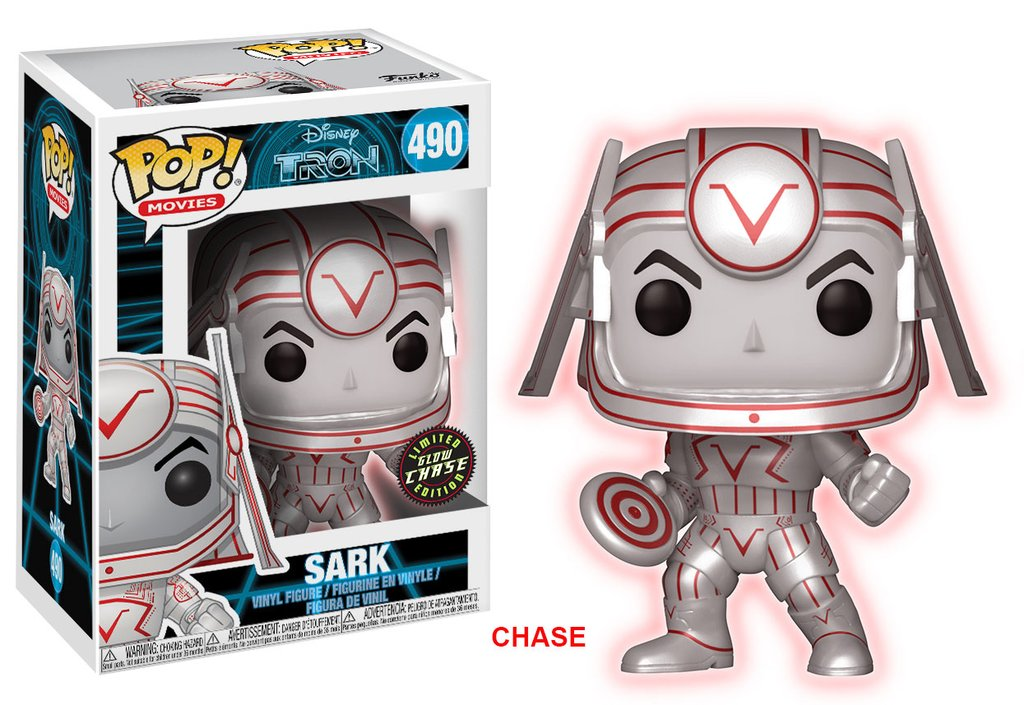 Tron funko pop movies sark vinyl figure 10cm chase