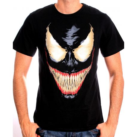 Tshirt homme marvel venom face legend icon mevenoxts002