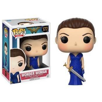 Wonder Woman - POP Heroes - Wonder Woman in Blue Gown Vinyl Figure 10cm