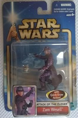 Star Wars (Saga Collection) - Hasbro - Zam Wesell (Bounty Hunter) 10cm