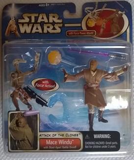 Star Wars (Saga Collection) - Hasbro - Mace Windu (with Blast-Apart Battle Droid) 10cm